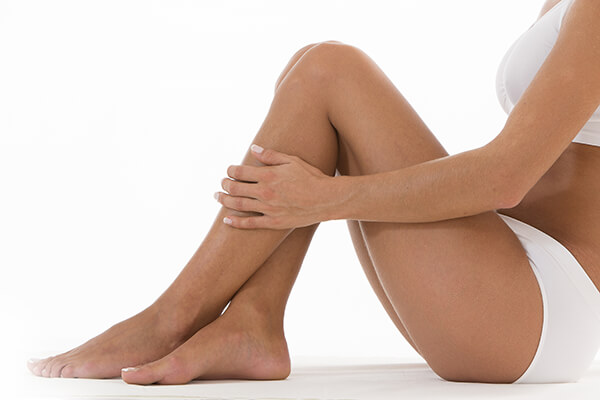 Smooth legs after laser therapy